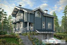М113 (11-72) - Проект деревянного дома из бруса