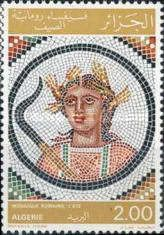 """The Seasons"", Roman Mosaics, stsmp printed in  Algeria, circa 1977"