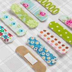 Fabric Covered Band Aids