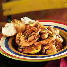 Pascal's Manale New Orleans BBQ Shrimp- best recipe I have found!!  Add a little extra lemon and tabasco and you won't be disappointed!    2-2 1/2 lbs. Jumbo Shrimp, unpeeled (20) shrimp to a pound)  1 stick Butter   4 ounces of Vegetable Oil  2 ounces Worcestershire Sauce  1 tablespoons ground Black Pepper  1/4 teaspoons of ground Rosemary  1 Lemon, sliced  Tabasco (to taste)  1+ teaspoon of Salt  1 clove of crushed Garlic  Preheat oven to 400 degrees. Melt butter/margarine with oil in…