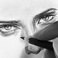 "6,258 Likes, 41 Comments - ## www.artFido.com ## (@artfido) on Instagram: ""The eyes speak to us in another language! Stunning WIP drawing by @aljabouri_ (Shared by @yaseen_uk)"""
