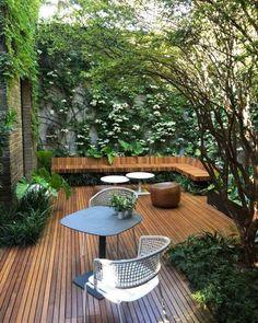 Small Backyard Gardens, Backyard Garden Design, Small Backyard Landscaping, Small Garden Design, Small Gardens, Outdoor Gardens, Landscaping Ideas, Small Courtyard Gardens, Courtyard Ideas