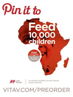 Please repin this pin and help us spread the word about VitaV. The more people donate and support us, more children we can feed in Africa and it will not become possible without your help! Click the picture for more details.