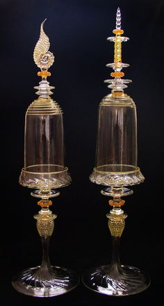 ღღ Gorgeous Bell Jars by Glass Artist: Andy Paiko Glass ~~~  More info: http://andypaikoglass.com/