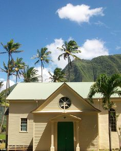 Doing God's work: This is St Philomena Church, where Father Damien ministered for his 16 years on Kalaupapa before his death in 1889 from leprosy