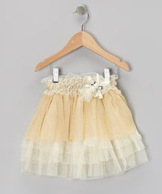 Take a look at this Beige Tulle Tiered Skirt - Toddler & Girls by Paulinie on #zulily today!