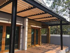 Although age-old inside notion, the particular pergola is enduring a bit of a present day Steel Pergola, Pergola With Roof, Covered Pergola, Patio Roof, Pergola Kits, Black Pergola, Modern Pergola, Outdoor Pergola, Outdoor Decor