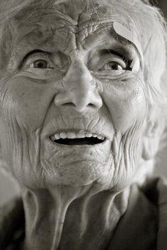 102 years young Fabulous expressive face. The stories she could tell!