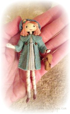 1950s inspired handmade little doll JUDY by Verity by VerityHope