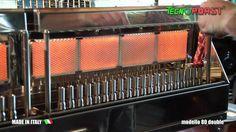 Tecnoroast 80 Double Gas PRO - Cottura Automatica Arrosticini e Spiedini - YouTube