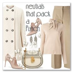 """""""Cool Neutrals"""" by andrejae ❤ liked on Polyvore featuring Chico's, Marni, Windsmoor, Valentino, Chloé, neutrals, polyvoreeditorial and polyvorecontest"""