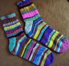Hand Knitted Socks  - good for using up the yarn stash!