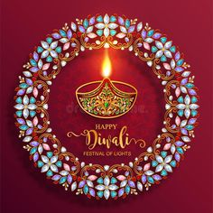 Illustration about Happy Diwali festival card with gold diya patterned and crystals on paper color Background. Illustration of happiness, festival, ganesha - 126645092 Happy Diwali Pictures, Happy Diwali Wishes Images, Happy Diwali Wallpapers, Diwali Photos, Diwali Cards, Diwali Greeting Cards, Diwali Greetings, Happy Diwali Animation, Diwali Photography