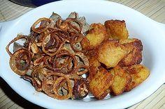 Geflügelleber mit Zwiebeln 1 Chicken Wings, French Toast, Meat, Breakfast, Food, Chicken Liver Recipes, Chef Recipes, Morning Coffee, Essen