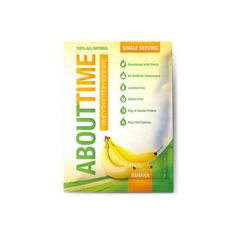 About Time Whey Protein Isolate – Banana Single Serving – 1 oz – Case of 12