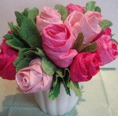 Como fazer flores de papel crepom 04                                                                                                                                                      Mais