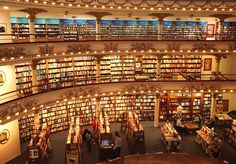 The El Ateneo Grand Splendid bookstore in Buenos Aires, Argentina is a converted movie palace. (Pin 3 of World Library, Library Books, Library Ideas, Livraria Lello Porto, Libreria El Ateneo, Beautiful Library, México City, Book Nooks, Oeuvre D'art
