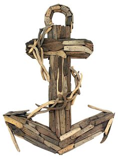 """21"""" Driftwood Anchor, Brown 