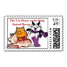 The Cat House on the Kings, postage stamps. This great business card design is available for customization. All text style, colors, sizes can be modified to fit your needs. Just click the image to learn more!