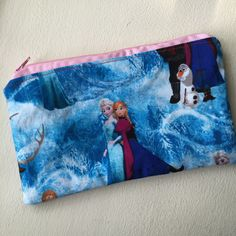 A personal favorite from my Etsy shop https://www.etsy.com/listing/223813002/frozen-zipper-pouch