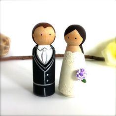 CAKE TOPPERS Custom Wedding Cake Topper by CreativeButterflyXOX, $60.00