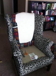 how to reupholster furniture diy.....pretty good step by step tips. by Kirstigs