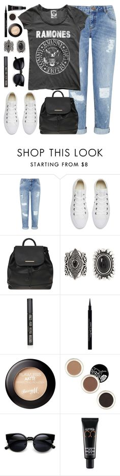 """""""Back to school outfit!"""" by anja-jovanovich ❤ liked on Polyvore featuring Miss Selfridge, Converse, Dorothy Perkins, New Look, Topshop, Givenchy and MAC Cosmetics"""
