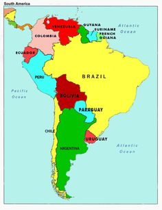 Scientific Central America On World Map Spanish Speaking Capitals In South America South America State Americas Country Quiz Political Map Of South America Continent South America Continent, North And South America, Central America, South American Capitals, South American Countries, Free Printable World Map, Argentina Country, Venice, Travel