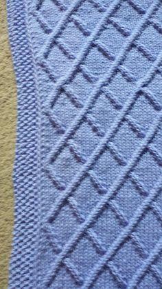 Ravelry: Diamond Cable Blanket pattern by Linda Hurst