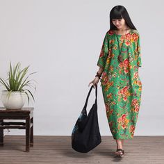 Casual Loose Fitting Oversized Cotton and Linen  Long от deboy2000