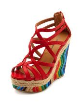 Charlotte Russe - Wedges OH MY LORD, RAINBOW!