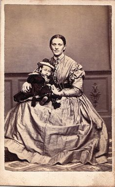 Unknown woman with child, circa 1864. I believe this child was deceased.