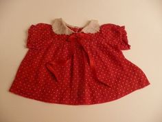 Red and White Polka Dot Handmade Vintage by chemindesmuguets, $12.00