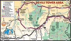 Devils Tower Map-Routes from Deadwood