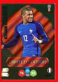 9bfdcc558 WC RUSSIA 2018 -Panini Adrenalyn- Card Limited Edition - MBAPPE  - FRANCE
