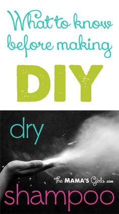 What to know before making DIY dry shampoo...