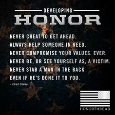 Developing Honor #motivation #honorthread