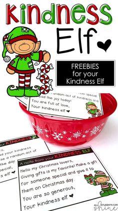 ✔ Christmas Activities For The Classroom Elf On The Shelf Kindness Activities, Christmas Activities, Christmas Projects, Kindness Projects, Christmas Printables, Fun Projects, Elf On The Shelf, Shelf Elf, Preschool Christmas