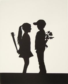 art, banksy, bat, betrayed, black and white, boy - inspiring picture on Favim.com