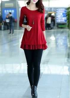 Bowknot Decorated Long Sleeve Chiffon Panel Sweater