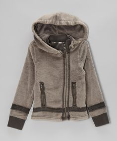 Take a look at this Chocolate Sherpa Moto Jacket - Toddler & Girls on zulily today!