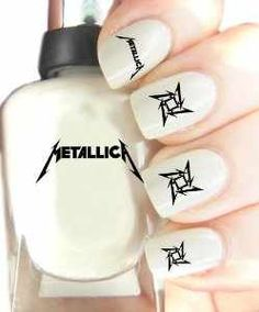 I& not so good, but if it were, this would happen. Hot Nails, Hair And Nails, Gorgeous Nails, Pretty Nails, Band Nails, Metallica Concert, Nailart, Nail Art Kit, Diy Nail Designs