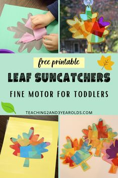 How to Make a Colorful Fall Leaf Sun Catcher with Toddlers