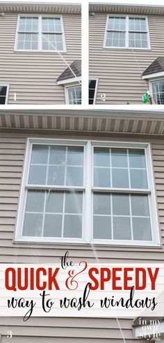 The quick and easy way to clean your home's windows. - it really works! by In My Own Style