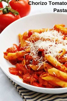 Frugal Food Items - How To Prepare Dinner And Luxuriate In Delightful Meals Without Having Shelling Out A Fortune This Easy Chorizo And Tomato Pasta Is A Great Easy Recipe For A Tasty Midweek Meal. It's A Delicious Homemade Pasta Dish Perfect For A Family Yummy Pasta Recipes, Tuna Recipes, Avocado Recipes, Great Recipes, Dinner Recipes, Cooking Recipes, Easy Recipes, Dinner Ideas, Midweek Meals