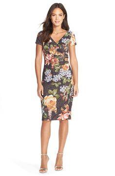 Adrianna Papell Metallic Jacquard Sheath Dress (Regular & Petite) available at #Nordstrom