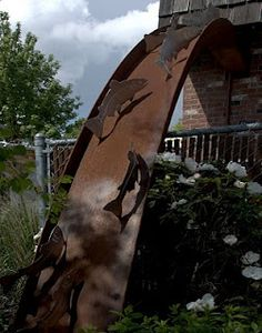 creative stormwater treatment - sculpture