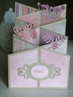 Cascading Card, Tarjetas Pop Up, Paper Engineering, 3d Paper Crafts, Kirigami, Folded Cards, Mini Albums, Scrapbook Paper, Stampin Up