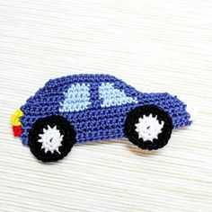 How To Make A Crocheted Car Applique – DIY Crafts Tutorial – Guidecentral. Guide… How To Make A Crocheted Car Applique – DIY Crafts Tutorial – Guidecentral. Guidecentral is a fun and visual way to discover DIY ideas learn new … Crochet Car, Crochet For Kids, Crochet Crafts, Crochet Toys, Free Crochet, Crochet Projects, Fabric Crafts, Motifs D'appliques, Crochet Motifs