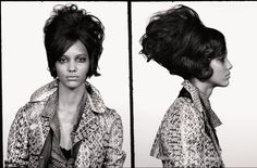 April 2013: Cora wears snakeskin jacket by Valentino; leopard print shirt by The Kooples; bra model's own